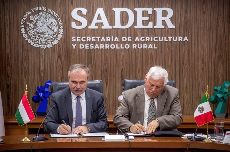 Firman México y Hungría memorando en materia de agricultura
