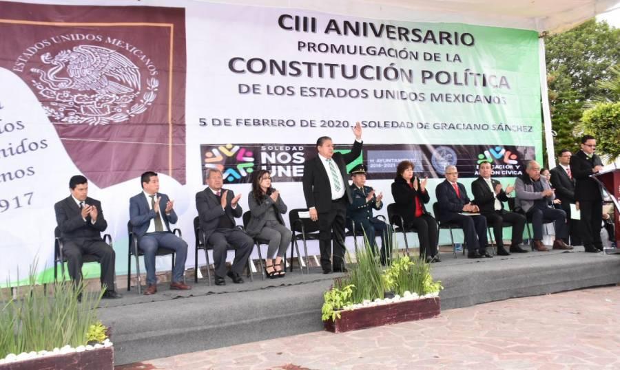 Municipio de Soledad conmemora el 103 aniversario de la Constitución