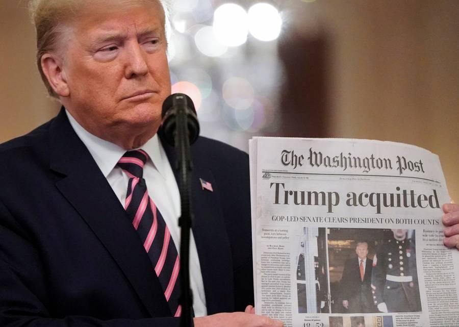Trump celebra absolución en juicio político