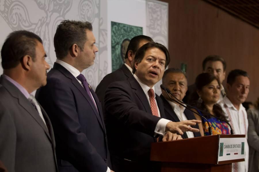 AMLO se reúne con la JUCOPO y la presidenta de la Cámara de Diputados, para hablar del trabajo legislativo.