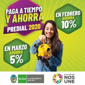 Ayuntamiento de Soledad pide aprovechar descuento en pago del predial