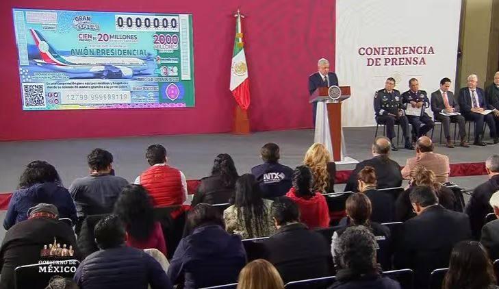INDEP aportará monto del premio de la rifa del avión presidencial