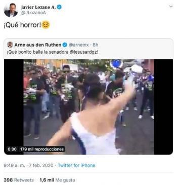 Javier Lozano difunde vídeo donde supuestamente aparece 'Jesusa Rodríguez' bailando en el carnaval.