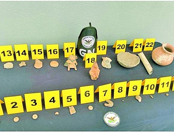 Evalúa INAH 22 piezas incautadas en San Luis