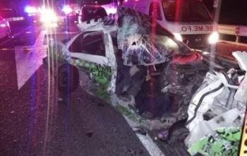 Muere pasajero de un taxi tras accidente en la México-Pachuca