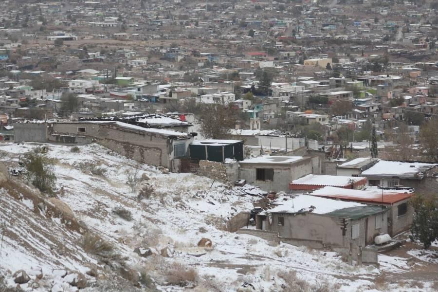 Alerta naranja en Ciudad Juárez por nieve; suspenden clases