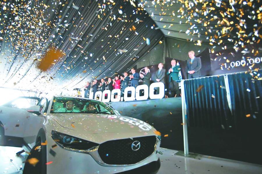 Mazda llega al millón de unidades en Guanajuato