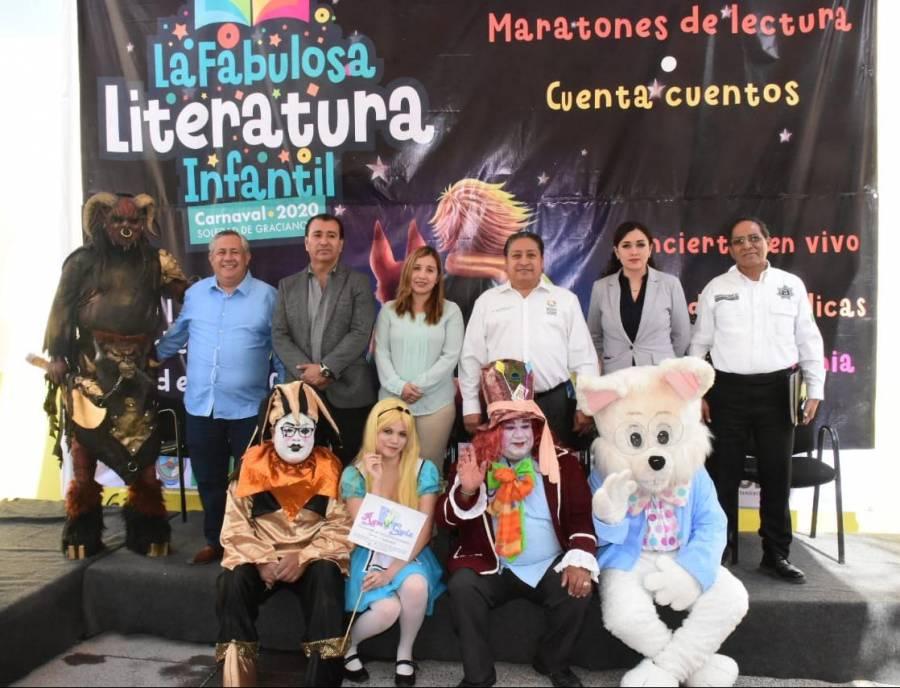 La literatura infantil llega al carnaval en Soledad de Graciano Sánchez