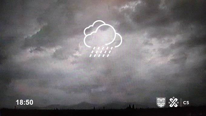 Se registra tormenta con granizo en CDMX