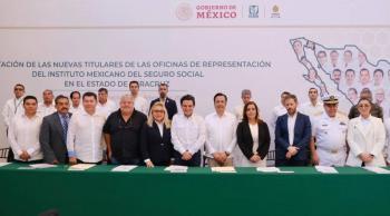 Toman posesión nuevas titulares en las oficinas del IMSS Veracruz Norte y Sur