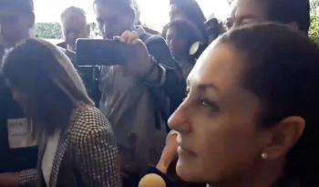 """""""Ahorita no"""": responde Sheinbaum a feministas de la CDMX"""