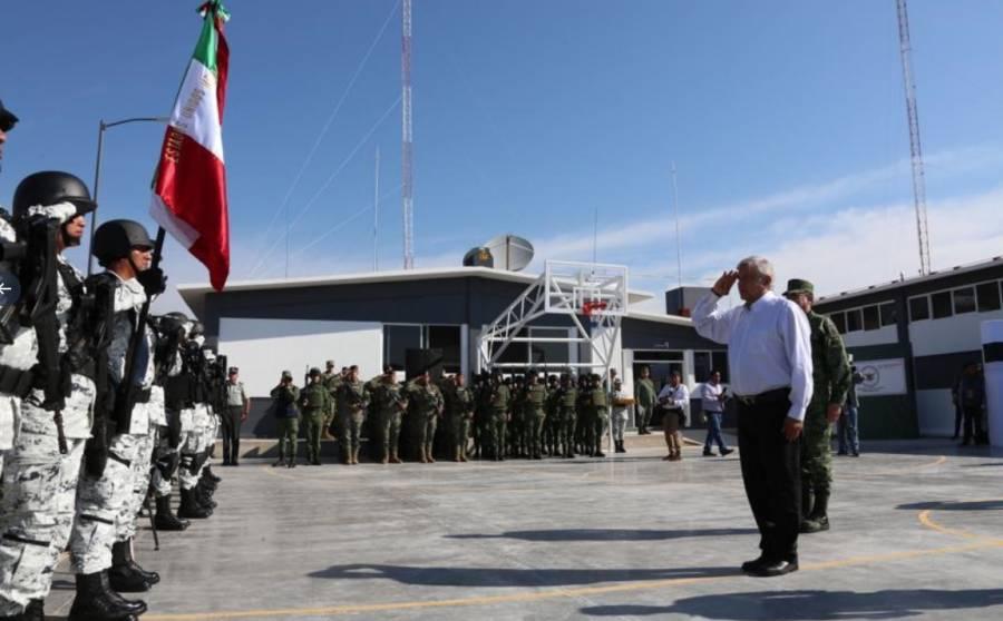 AMLO inaugura cuartel de la Guardia Nacional en Pénjamo