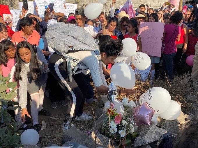 Realizan altar para Fátima en el lugar donde se halló su cuerpo