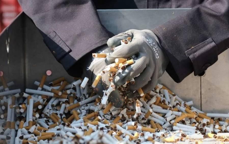 Aseguran 50 mil cigarros en terminal de autobuses