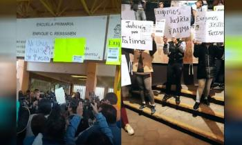 Padres de familia piden justicia afuera de primaria, por Fátima