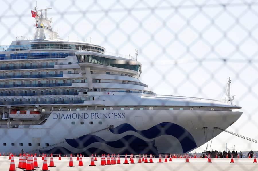 Asciende a 454 los casos de Covid-19 en crucero Diamond Princess