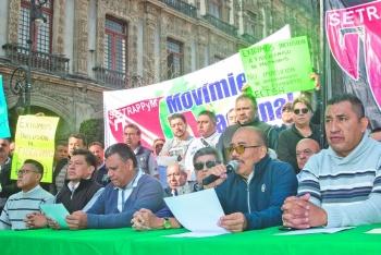Transportistas prevén colapsarhoy la CDMX, pese a diálogo