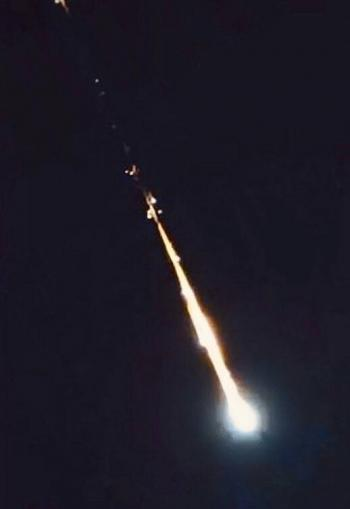 Se reporta Meteorito iluminando el cielo de México