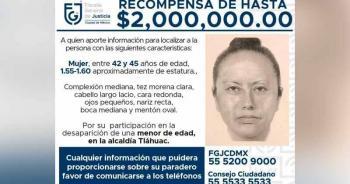 Difunden retrato hablado de la mujer que presuntamente se llevó a Fátima