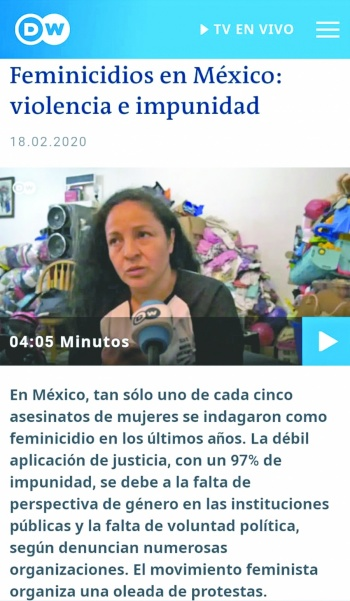 Feminicidios en México captan  atención de la prensa mundial