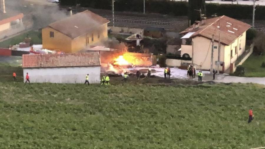 Se estrella un pequeño avión en Navarra, España