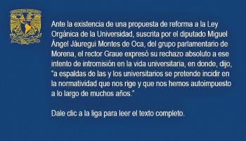 Sí retirarán la iniciativa sobre UNAM, peropiden analizarla