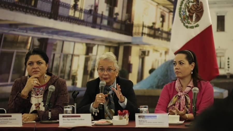 Sánchez Cordero admite que gobierno llega tarde a atender feminicidios