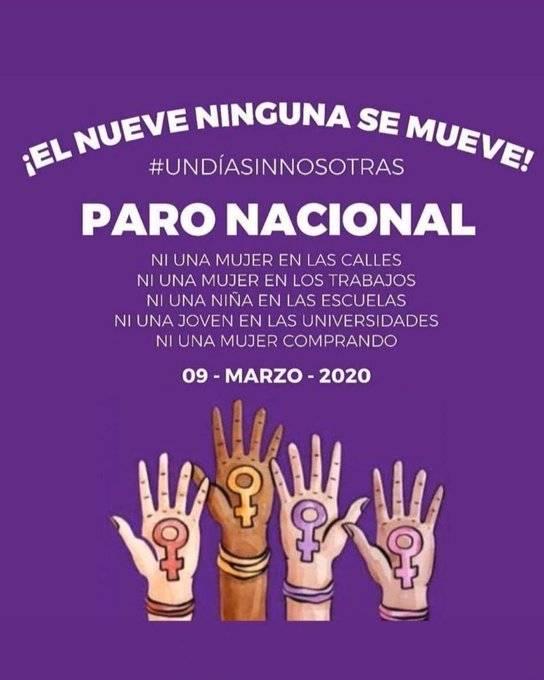 Ni descuentos ni castigos a mujeres que se sumen a paro nacional AMLO