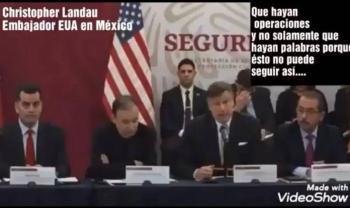Embajador de Estados Unidos pone en aprietos a Alfonso Durazo