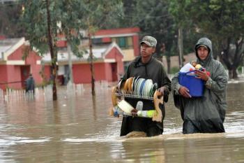 Declaran alerta roja en Bolivia por lluvias intensas