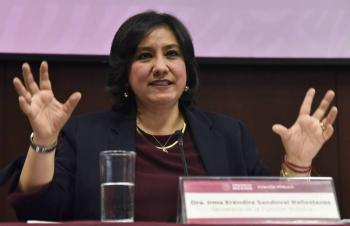 Paro de hombres no de mujeres, plantea Irma Eréndira Sandoval