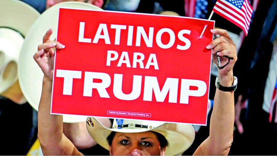 Uno de cada 4 latinos dice  que votará por Trump