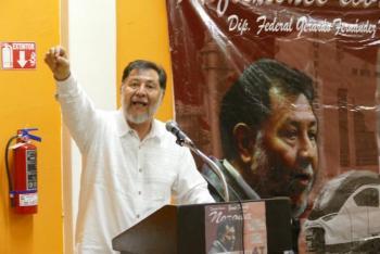 Noroña define a Cortés como farsante por posturas del PAN con feminicidios