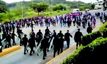 Trasladan a 2 detenidos por enfrentamiento en Chiapas
