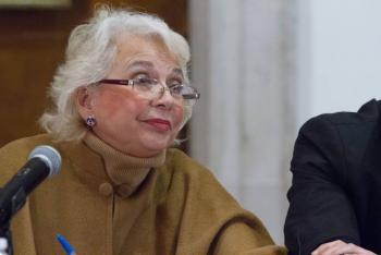 """Sánchez Cordero se suma a """"Un día sin nosotras"""" desde la oficina de SEGOB"""