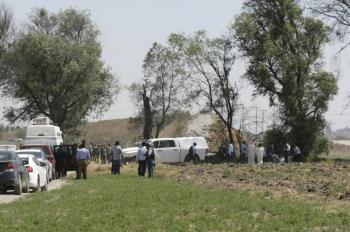 Localizan cuatro cuerpos, dos colombianos cerca del aeropuerto de Huejotzingo