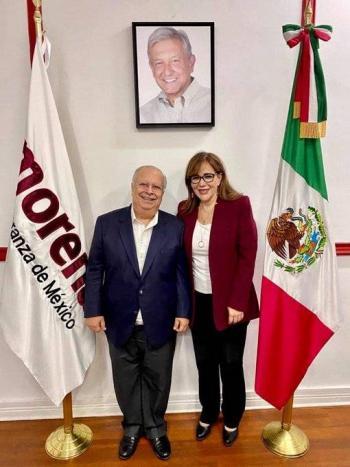 Yeidckol Polevnsky abre las puertas de Morena a Rafael Ochoa