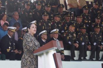 """""""La bandera es un símbolo de unidad"""": Mónica Fernández Balboa"""