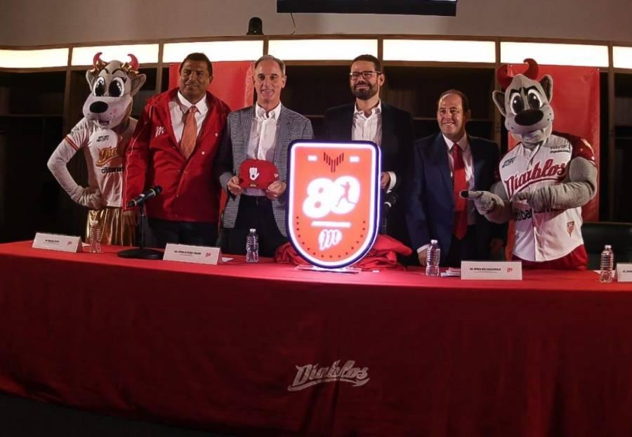 Diablos Rojos presenta logo conmemorativo por su 80 aniversario
