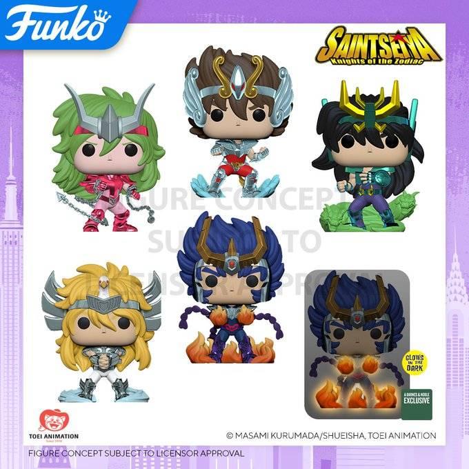 Funko Pop lanza la colección de Los Caballeros del Zodiaco