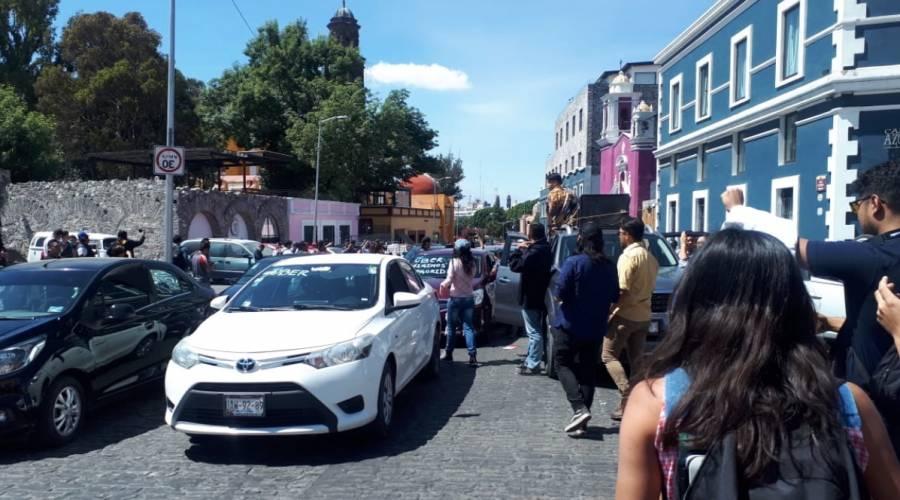 Conductores de DiDi y Uber piden justicia por chofer asesinado en Huejotzingo