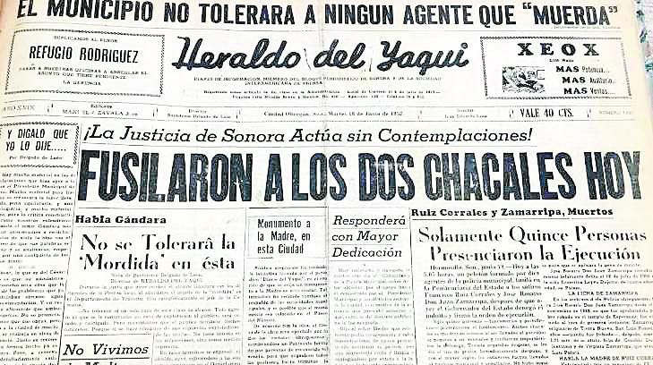 Hace 63 años aplicaronúltima pena de muerte