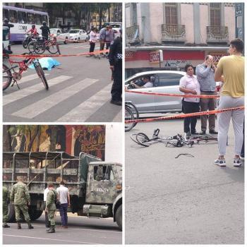 Ciclista pierde la vida por imprudencia de chofer de SEDENA