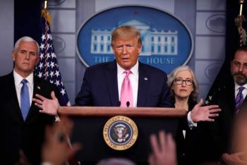 Trump anuncia creación de equipo para contener el Covid-19 en EU