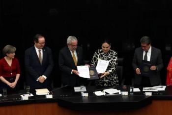 Firman convenio UNAM- Senado de la República
