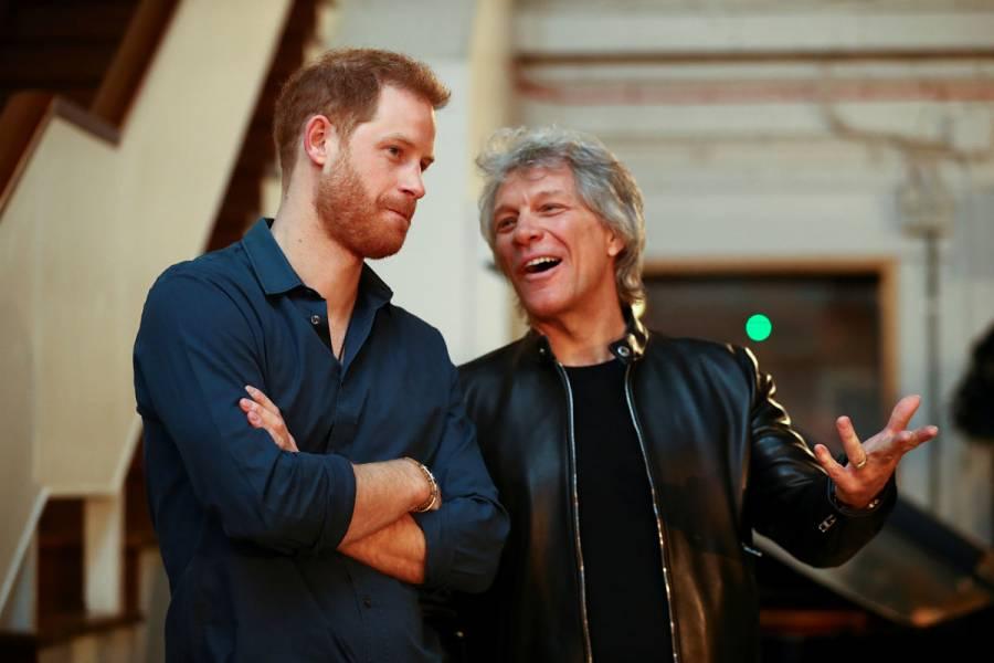 Príncipe Harry y Bon Jovi inician grabación de tema musical