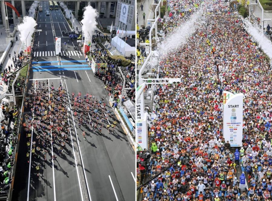 Sólo 231 corrieron el Maratón de Tokio