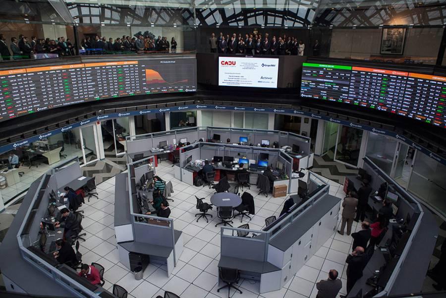 Registra alza la Bolsa Mexicana de Valores