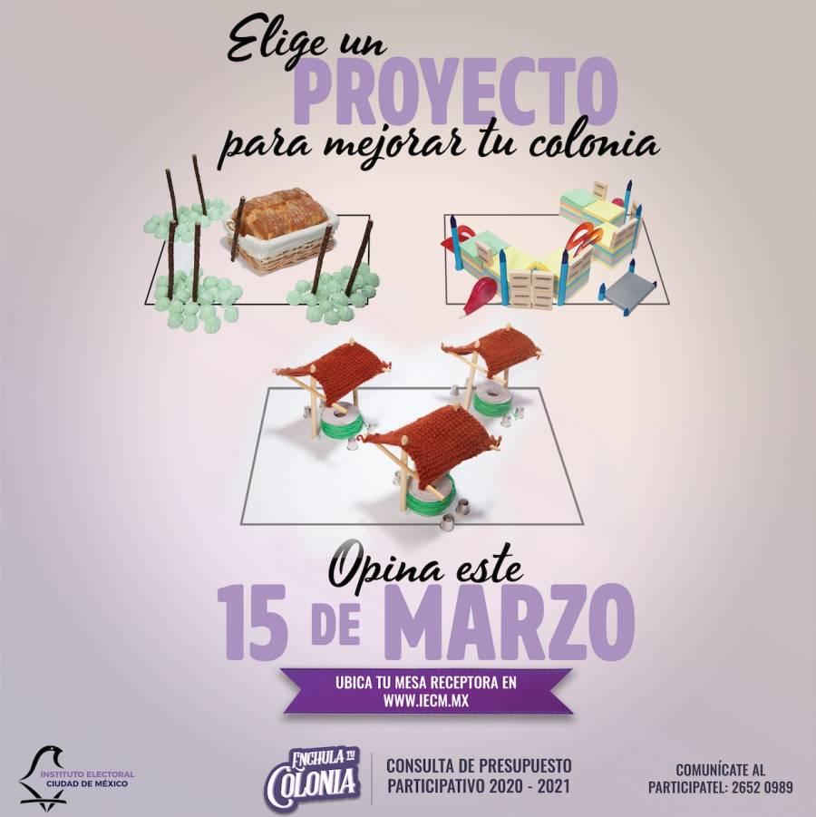 4 de marzo acaba plazo para promover proyectos y candidatos para enchular colonias