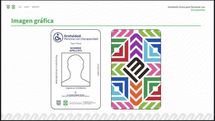Presentan tarjeta para discapacitados de acceso a transporte público